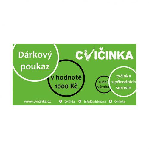 Dárkový poukaz 1000Kč na Cvičinka.cz - 1