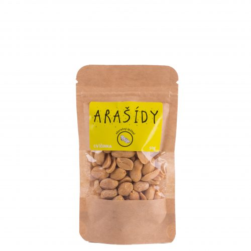 CVIČINKA Arašídy pražené, nesolené 50g - 1