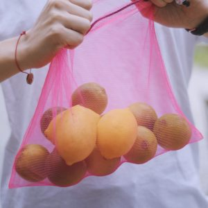 Sáčkovka Ekologická taška růžová M - 2