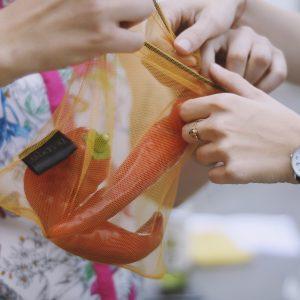 Sáčkovka Ekologická taška zlatá S - 2