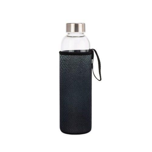 Kikkerland Skleněná láhev na vodu shadím obalem 600 ml - 1