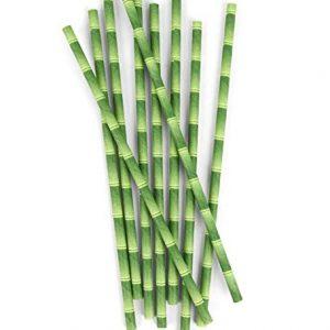 Kikkerland Papírová brčka Bambus 144 ks - 2