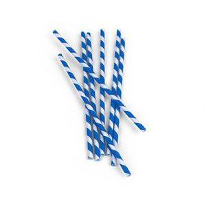 Kikkerland Papírová brčka Modro-Bílá 144 ks - 2