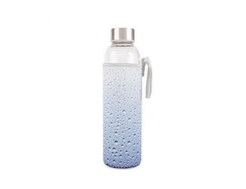 Kikkerland Skleněná láhev na vodu svodním obalem 600 ml - 1