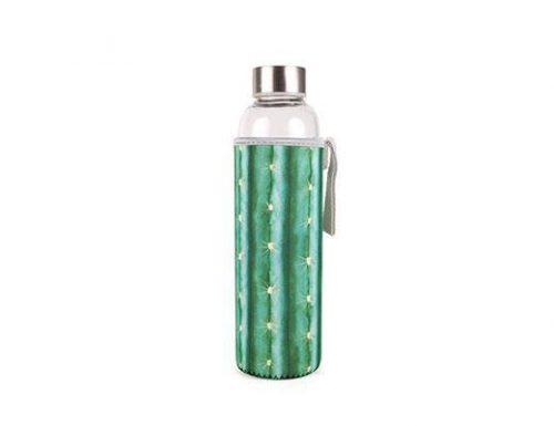 Skleněná láhev skaktusovým obalem - 1