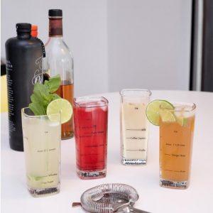 Kikkerland Barmanské sklenice na drinky 4 kusy - 2
