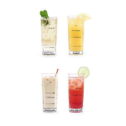 Kikkerland Barmanské sklenice na drinky 4 kusy - 1