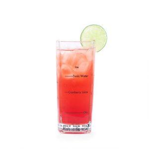 Kikkerland Barmanské sklenice na drinky 4 kusy - 3