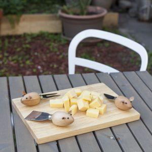 Kikkerland Sada nožíků na krájení sýrů – myšky - 2