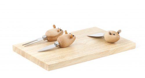 Kikkerland Sada nožíků na krájení sýrů – myšky - 1