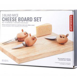 Kikkerland Sada nožíků na krájení sýrů – myšky - 3
