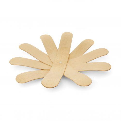 Kikkerland Dřevěná miska bumerang na ovo-zel - 1