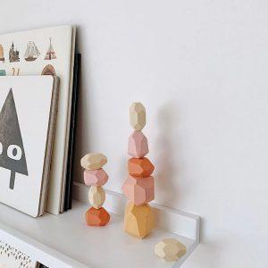 Balanční dřevěné kameny 10ks - 3