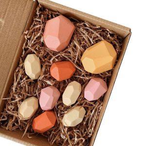 Balanční dřevěné kameny 10ks - 5