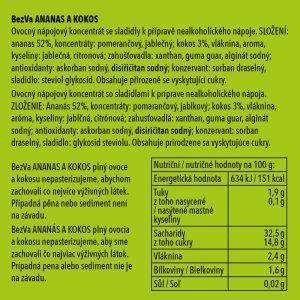 BezVa Ananas aKokos 250 ml - 2