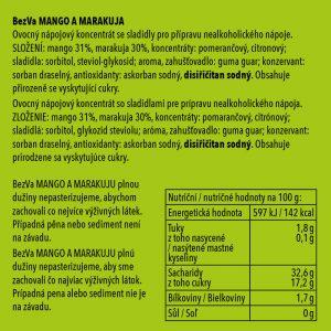 BezVa Mango aMarakuja 250ml - 2