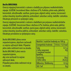BezVa Brusinka 1000 ml - 2