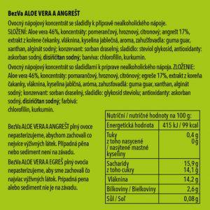 BezVa Aloe vera aAngrešt 250 ml - 2