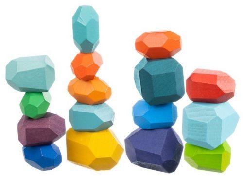 Balanční dřevěné kameny 16ks - 1